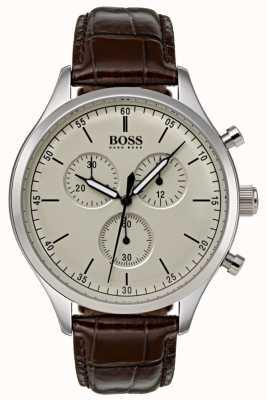 Boss Cinturino in pelle marrone cronografo compagno da uomo 1513544