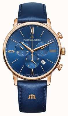 Maurice Lacroix Cronografo Eliros blu e orologio d'oro EL1098-PVP01-411-1