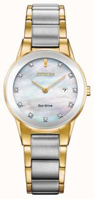 Citizen Datario da donna con diamante assioma bicolore GA1054-50D