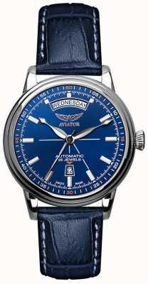 Aviator Orologio da uomo con data di giorno in douglas blu V.3.20.0.145.4