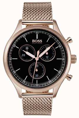 Boss Bracciale da uomo cronografo da uomo in oro rosa con cinturino in oro rosa 1513548