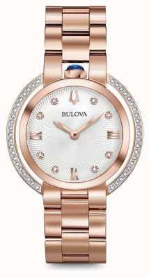Bulova Orologio di diamanti oro rosa di rubaiyat Womans 98R248