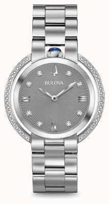 Bulova Orologio d'argento del diamante di rubiyat di Womans 96R219