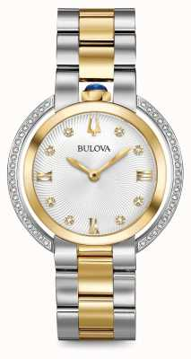 Bulova Womans rubaiyat due orologi di tono di diamante 98R246