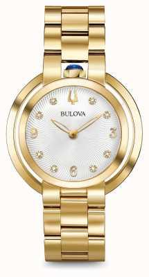 Bulova Orologio del diamante di oro del rubomy di Womans 97P125