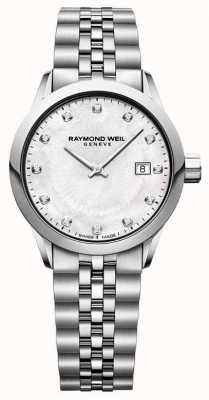 Raymond Weil Vergine freelance di madre del quadrante della perla 5629-ST-97081