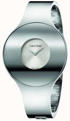 Calvin Klein Medio orologio senza saldatura in acciaio argento Womans K8C2M116