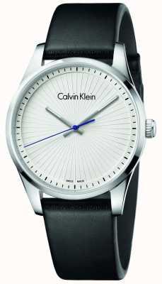 Calvin Klein Cuoio nero in pelle vellutata unisex K8S211C6