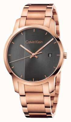 Calvin Klein La vigilanza della città placcata oro dell'orecchio dei womans K2G2G643