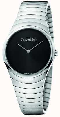 Calvin Klein Vigilanza d'argento dell'acciaio inossidabile di Womans K8A23141