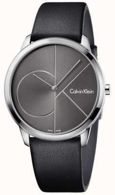 Calvin Klein Cinturino in pelle nera unisex K3M211C3