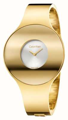 Calvin Klein Vigilanza senza giunte del tono dell'oro di Womans piccolo K8C2S516