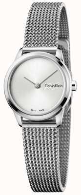 Calvin Klein Quadrante argentato minimalista Womans K3M231Y6