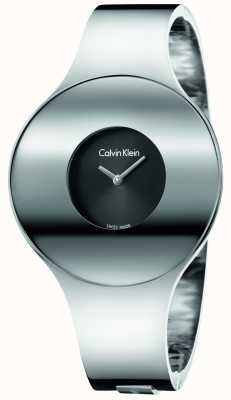 Calvin Klein Vigilanza senza giunte dell'argento dell'argento del Womans piccolo K8C2S111