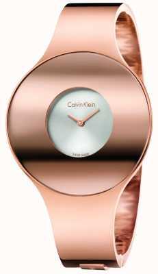 Calvin Klein Vigilanza senza giunte di tono dell'oro di rosa di Womans piccolo K8C2S616