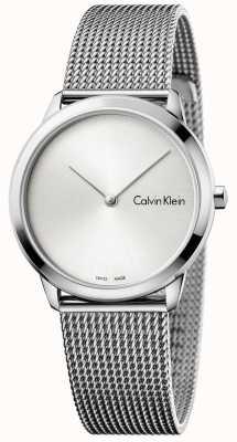 Calvin Klein Quadrante argentato minimalista Womans K3M221Y6