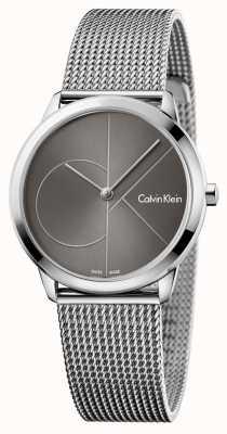 Calvin Klein Quadrante grigio orologio minimo di Womans K3M22123