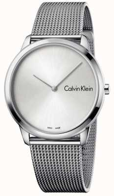 Calvin Klein Quadrante argentato minimalista Womans K3M211Y6