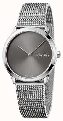 Calvin Klein Quadrante grigio orologio minimo di Womans K3M221Y3