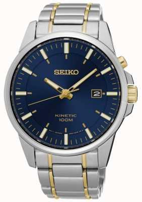 Seiko Quadrante blu cinetico a due toni del braccialetto SKA757P1