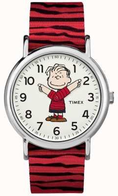 Timex Cinturino rosso linus di avena di Weekender TW2R412006B