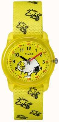 Timex Borsa gialla analogica gialla cinghia snoopy TW2R41500JE