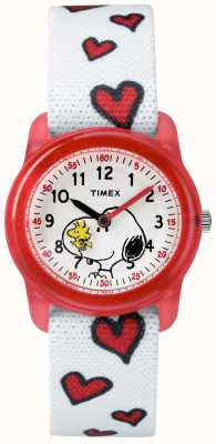 Timex Giovani cinturino analogico bianco snoopy cuori TW2R41600JE