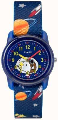 Timex Borsa analogica blu della gioventù snoopy spazio esterno TW2R41800JE