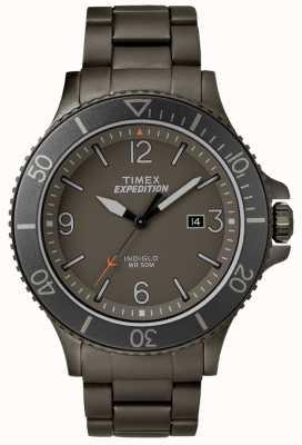 Timex Quadrante grigio del braccialetto del metallo della pistola del ranger della spedizione del Mens TW4B10800