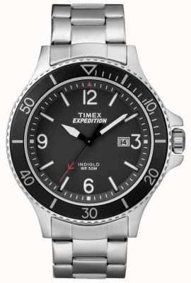 Timex Quadrante nero del braccialetto del metallo del ranger di spedizione del Mens TW4B10900