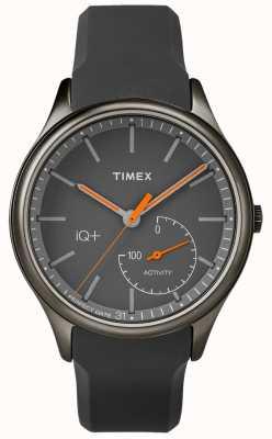 Timex Mens iq più sposta la cinghia di silicone grigia TW2P95000
