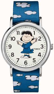 Timex Orologio blu lucy della cinghia TW2R413006B