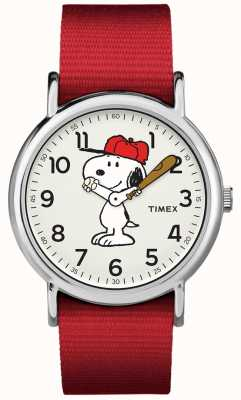 Timex Orologio snoopy cinturino rosso TW2R414006B