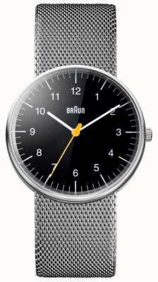 Braun Orologio bracciale in acciaio inox unisex BN0021BKSLMHG