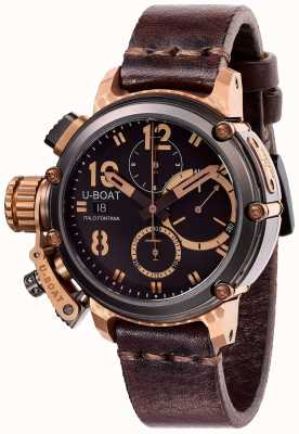 U-Boat Chimera in edizione limitata 43mm b & b crono in pelle marrone 8015