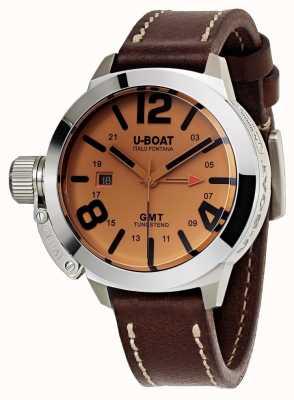 U-Boat Classico 45 gmt be orologio in pelle automatico in pelle marrone 8051