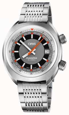 Oris Il braccialetto in acciaio inossidabile del grigio di data di Chronoris 01 733 7737 4053-07 8 19 01