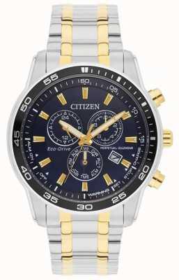 Citizen Mens | guida ecologica | cinturino in acciaio inossidabile quadrante nero | BL5514-53L