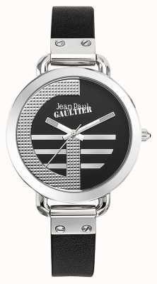 Jean Paul Gaultier Indice femminile nero in cinturino in pelle nera JP8504315