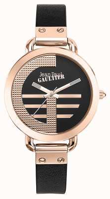 Jean Paul Gaultier Quadrante nero con cinturino in pelle marrone con indici JP8504325