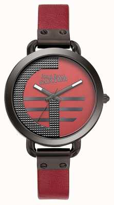 Jean Paul Gaultier Quadrante rosso da donna con cinturino rosso in pelle rossa JP8504321