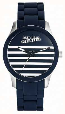 Jean Paul Gaultier Bracciale Enfants terribles in gomma blu JP8501118