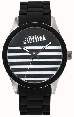 Jean Paul Gaultier Enfants terribles nero cinturino in acciaio cinturino in acciaio quadrante nero JP8501121