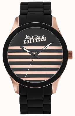 Jean Paul Gaultier Enfants terribles nero cinturino in acciaio cinturino in acciaio quadrante nero JP8501122