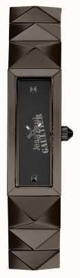 Jean Paul Gaultier Quadrante nero punk braccialetto in metallo pistola delle donne JP8504003