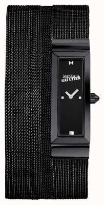 Jean Paul Gaultier Quadrante nero del braccialetto della maglia di pvd delle donne cote de maille JP8503905