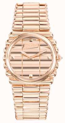 Jean Paul Gaultier Quadrante oro rosa braccialetto pvd oro rosa bordo donna JP8504106