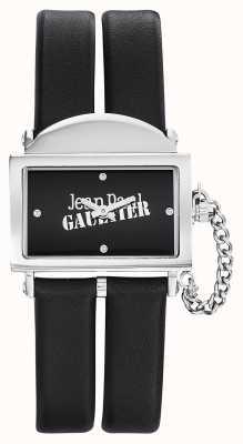 Jean Paul Gaultier Manopola nera in pelle nera 325 nero JP8501609