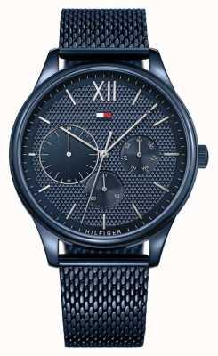 Tommy Hilfiger Damon | braccialetto a maglie blu | quadrante blu 1791421