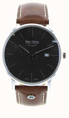 Bruno Sohnle Stoccarda i 42 millimetri orologio in pelle marrone 17-13175-841
